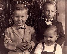 Ben, Ed, and Herb, Christmas, 1956
