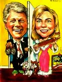 Caricature of Bill and Hillary, 1992