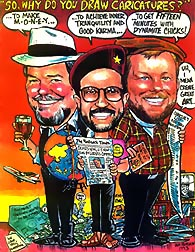 My Caricature of Charlie, Peter, and Me...