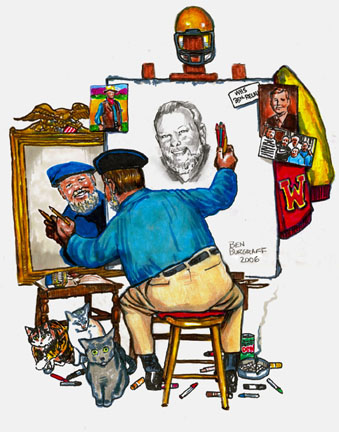 Self-Portrait, ala Norman Rockwell, 2006...